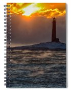 Sun Climbing Over Thacher Island Lighthouse Spiral Notebook