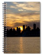 Sun Comes Up On New York City Spiral Notebook