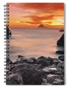Sun Descends On Northcoast Spiral Notebook