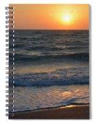 Sun Glistening On The Water Spiral Notebook
