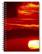 Sun In Descent Spiral Notebook
