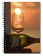 Sun In Glass Spiral Notebook