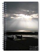 Sun In The Clouds Spiral Notebook
