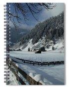 Sun On A Snowy Meadow Spiral Notebook