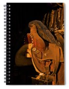 Sun On Leather Horse Saddle In Tack Room Equestrian Fine Art Photography Print Spiral Notebook
