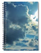 Sun Peeping Out Spiral Notebook