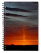 Sun Pillar In The Morning Spiral Notebook