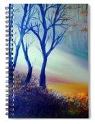 Sun Ray In Blue  Spiral Notebook
