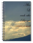Sun Rays 1 Peter Chapter 4 Verse 8 Spiral Notebook