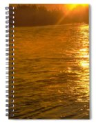 Sun Rays On The Payette River Spiral Notebook