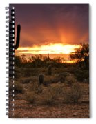 Sun Rays Over The Sonoran Desert  Spiral Notebook