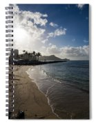 Sun Sand And Waves - Waikiki Honolulu Hawaii Spiral Notebook