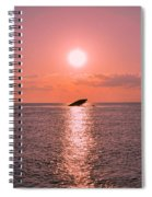 Sun Setting On Atlantus Spiral Notebook
