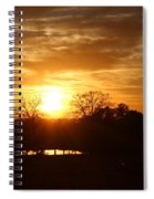 Sun Setting Over The Pond Spiral Notebook