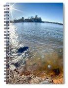 Sun Shining Over Lake Wylie In North Carolina Spiral Notebook
