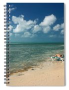 Sunbathers On The Beach Spiral Notebook