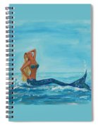 Sunbathing Mermaid Spiral Notebook