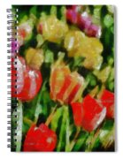 Sunbathing Tulips Spiral Notebook