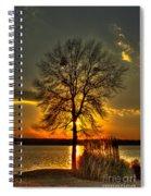 Sunblock A Sunset On Lake Oconee Spiral Notebook