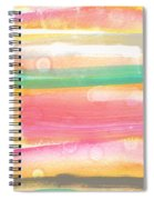 Sunday In The Park- Contemporary Abstract Painting Spiral Notebook