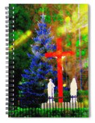 Sunday Morning  -  The Blood Red Cross - Our Shame - The Ray Of Light - Our Victory - Carole Spandau Spiral Notebook
