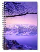 Sunday Morning At Okanagan Lake Spiral Notebook