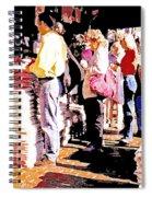 Sunday Morning Paper Sidewalk Newsstand Digitl Art Spiral Notebook