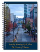 Sunday Morning Rush Hour Spiral Notebook