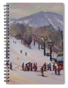 Sunday Skiing Spiral Notebook