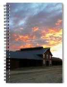 Fire In The Sky Sunday Spiral Notebook