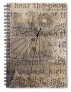 Sundial With Les Miz Spiral Notebook