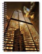 Sundown At Willis Sears Tower Spiral Notebook