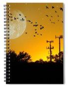 Sundown Fantasy Orange Spiral Notebook
