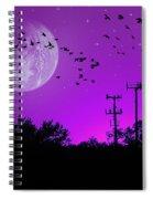 Sundown Fantasy - Violet Spiral Notebook