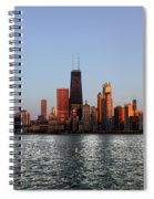 Sundown In The Chicago Canyons Spiral Notebook
