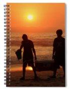 Ocean - Sundown Sunset Spiral Notebook