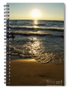 Sundown On The Beach Spiral Notebook