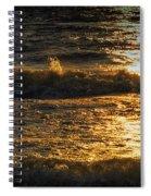 Sundown On The Waves Spiral Notebook