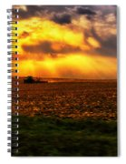 Sundown On The Working Farmer Spiral Notebook