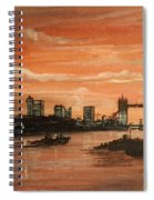 Sundown Over Tower Bridge London Spiral Notebook