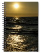 Sundown Reflections On The Waves Spiral Notebook