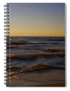 Sundown Scintillate On The Waves Spiral Notebook