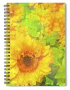 Sunflower 19 Spiral Notebook