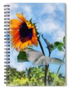 Sunflower Against The Sky Spiral Notebook