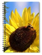 Sunflower And Bee-3879 Spiral Notebook
