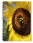 Sunflower And Bee-3922 Spiral Notebook