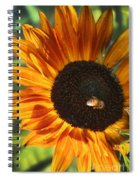 Sunflower And Bee-4041 Spiral Notebook