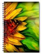 Sunflower And Butterfly Spiral Notebook