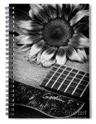 Sunflower And Guitar Spiral Notebook