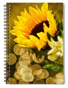 Sunflower And The Lights Spiral Notebook